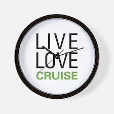 Live Love Cruise Wall Clock