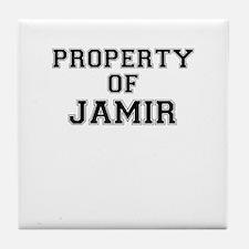 Property of JAMIR Tile Coaster