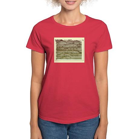 Mozart Manuscript Women's Color T-Shirt
