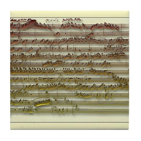Mozart Manuscript Tile Coaster