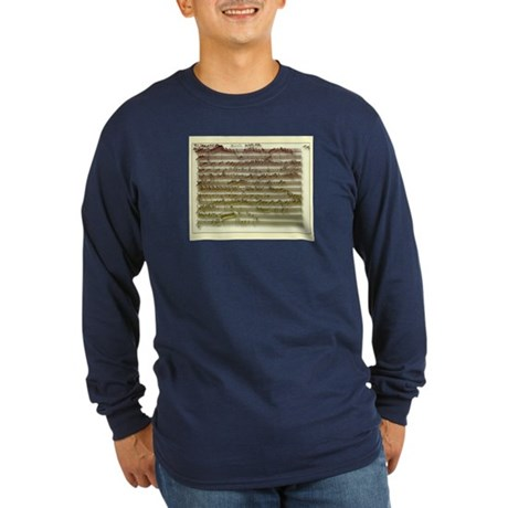 Mozart Manuscript Long Sleeve Color T-Shirt