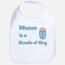 Mason is a Bundle of Boy Bib