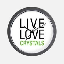 Live Love Crystals Wall Clock
