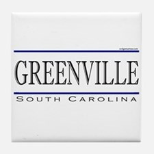 Cute Greenville sc Tile Coaster