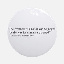 Ghandi Quote Ornament (Round)