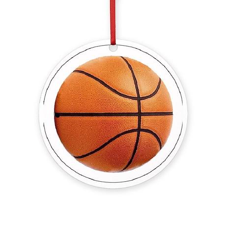 Basketball Sports Christmas Ornament -Round