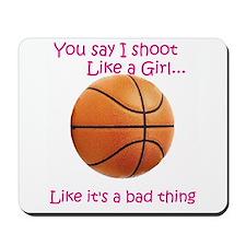 Shoot like a Girl Mousepad