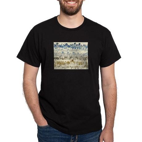BACH Music Autograph Black T-Shirt