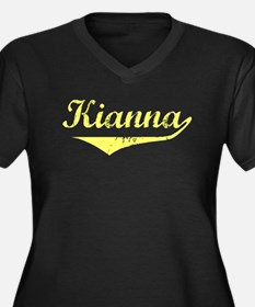 Kianna Vintage (Gold) Women's Plus Size V-Neck Dar