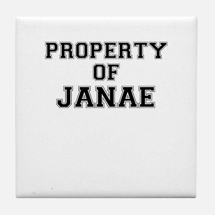 Property of JANAE Tile Coaster