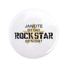 """Janeite RockStar by Night 3.5"""" Button"""