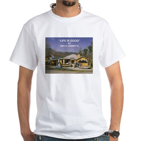 Uncle Johnny's White T-Shirt