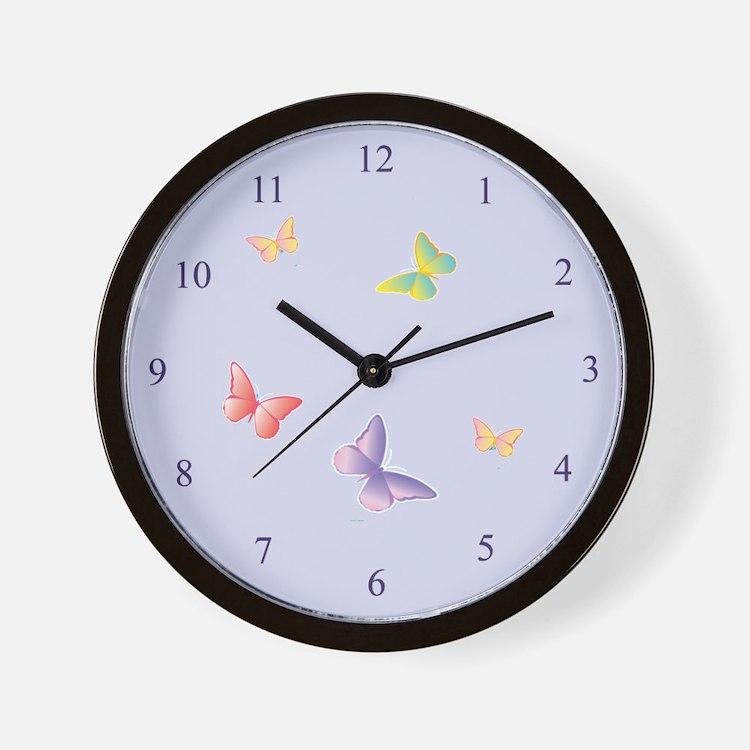 Cute Girls butterfly Wall Clock