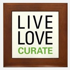 Live Love Curate Framed Tile