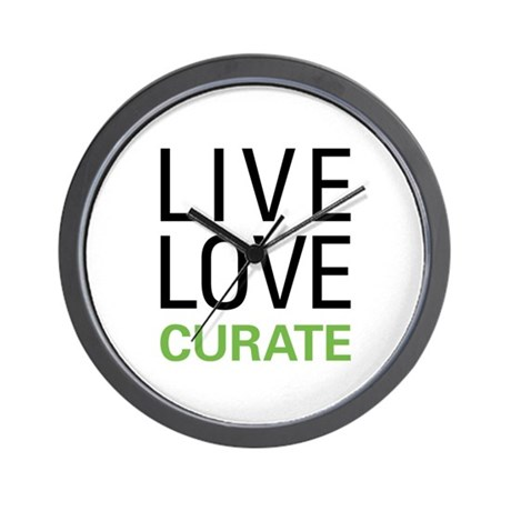 Live Love Curate Wall Clock