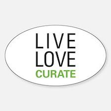 Live Love Curate Sticker (Oval)