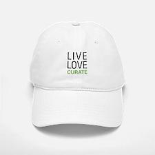 Live Love Curate Baseball Baseball Cap