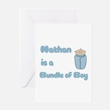 Nathan is a Bundle of Boy  Greeting Cards (Pk of 1