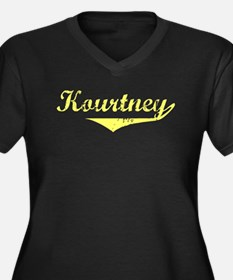 Kourtney Vintage (Gold) Women's Plus Size V-Neck D