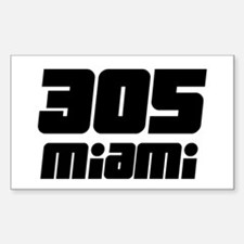 305 Miami 7 Rectangle Decal