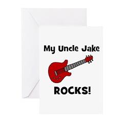 My Uncle Jake Rocks! guitar Greeting Cards (Pk of