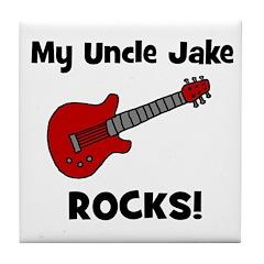 My Uncle Jake Rocks! guitar Tile Coaster