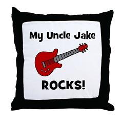 My Uncle Jake Rocks! guitar Throw Pillow