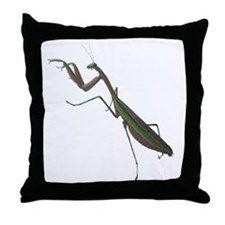 preying mantis Throw Pillow