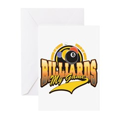 Billiards My Game Greeting Cards (Pk of 10)