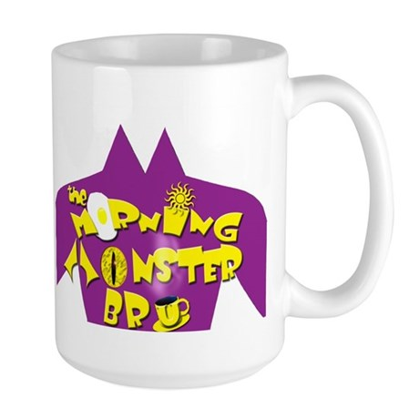 The Morning Monster Bru Large Mug