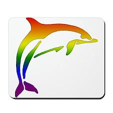 Rainbow Dolphin Mousepad