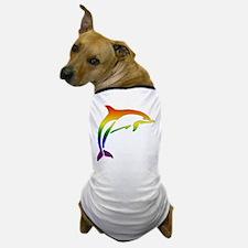 Rainbow Dolphin Dog T-Shirt