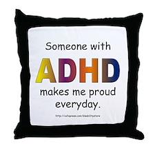 ADHD Pride Throw Pillow