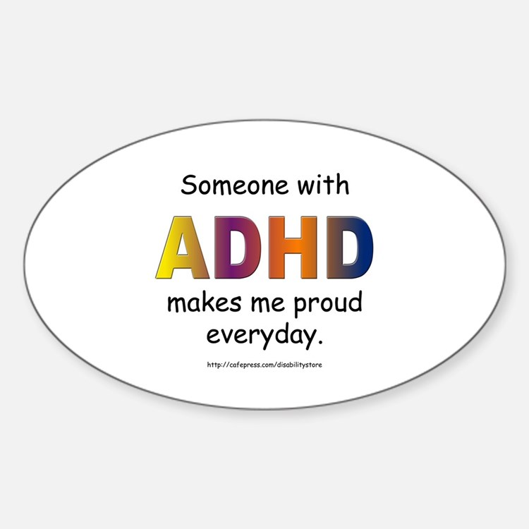 ADHD Pride Oval Decal