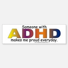ADHD Pride Bumper Car Car Sticker