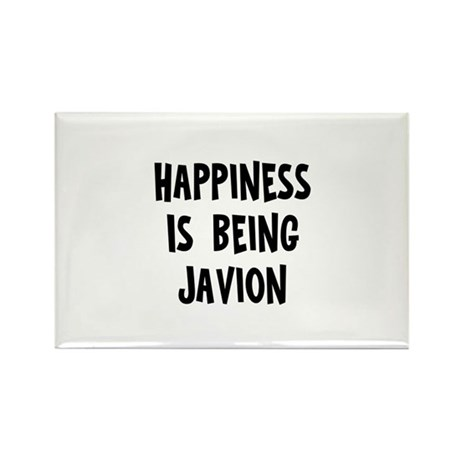 Happiness is being Javion Rectangle Magnet