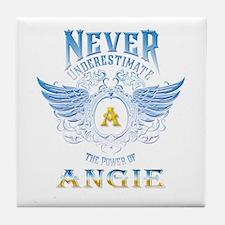 Never underestimate the power of angi Tile Coaster