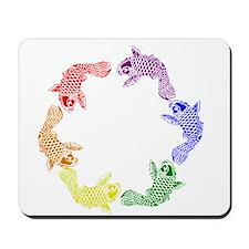 Rainbow Koi Mousepad