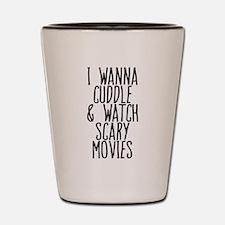 Cuddle Halloween Movies Shot Glass