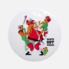 Santa Got His Cookies Snatched Ornament (Round)
