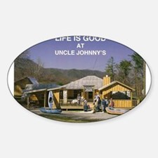 Uncle Johnny's Oval Decal