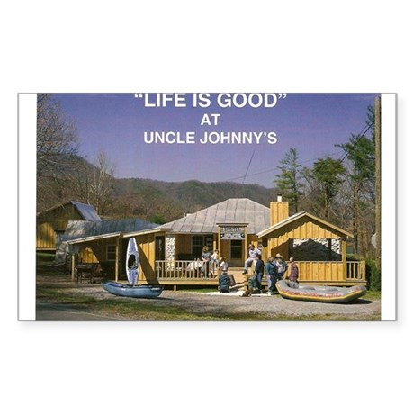 Uncle Johnny's Rectangle Sticker