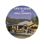 "Uncle Johnny's 3.5"" Button"