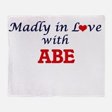 Madly in love with Abe Throw Blanket