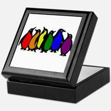 Rainbow Penguins Keepsake Box