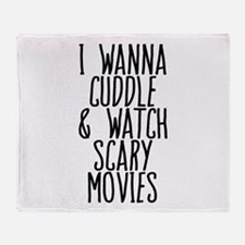Cuddle Halloween Movies Throw Blanket