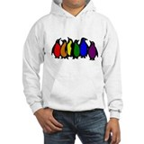 Penguin rainbow Hooded Sweatshirt