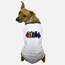 Rainbow Penguins Dog T-Shirt