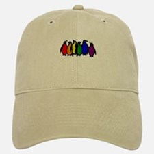 Rainbow Penguins Baseball Baseball Cap