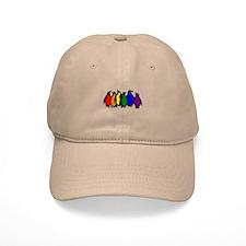 Rainbow Penguins Baseball Cap